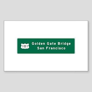 Golden Gate Bridge-SF, US Rout Sticker (Rectangle)