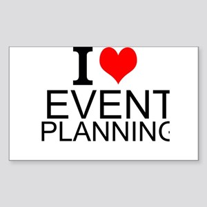 I Love Event Planning Sticker