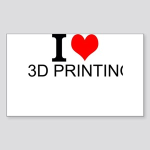 I Love 3D Printing Sticker