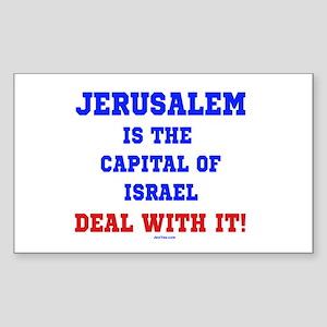 Jerusalem's Israel's Capital Sticker (Rectangle)