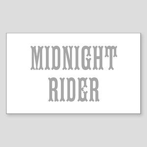 MIDNIGHT RIDER Sticker (Rectangle)
