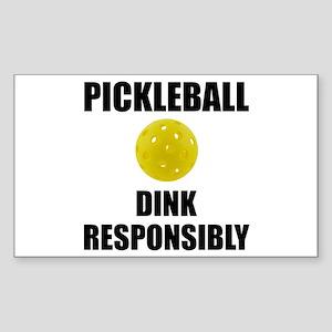 Pickleball Dink Responsibly Sticker