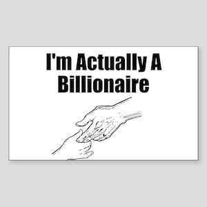 Billionaire Sticker