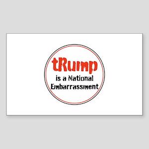 trump is a national embarrassment Sticker