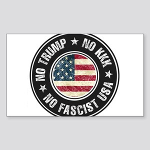 No Trump No KKK No Fascist USA Sticker