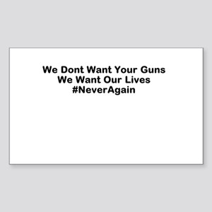 Our Lives #NeverAgain Sticker