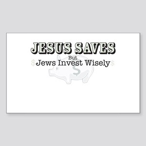 Jesus Saves, but... Rectangle Sticker