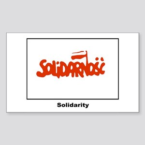 Solidarity Solidarnosc Flag Rectangle Sticker