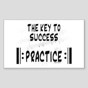 Key to Success Rectangle Sticker