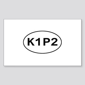 K1P2 - Knit One Purl Two Rectangle Sticker
