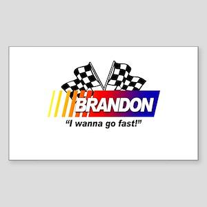 Racing - Brandon Rectangle Sticker