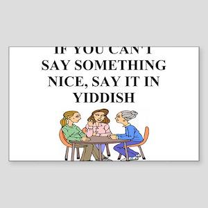 jewish yiddish wisdom Sticker (Rectangle)