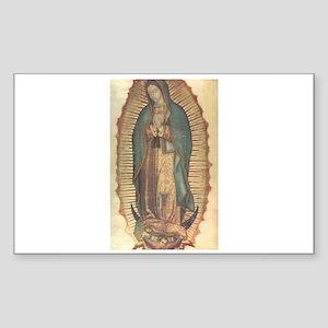 Virgen de Guadalupe - Origina Sticker (Rectangular