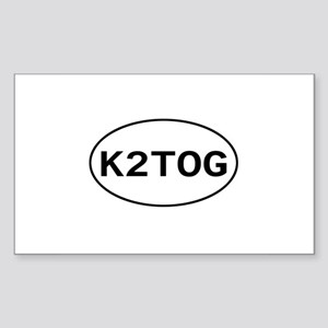 Knitting - K2TOG Rectangle Sticker