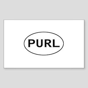 Knitting - Purl Rectangle Sticker