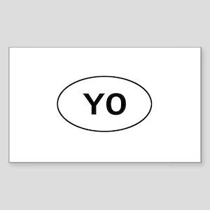 Knitting - YO - Yarn Over Rectangle Sticker