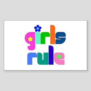Girls rule Rectangle Sticker