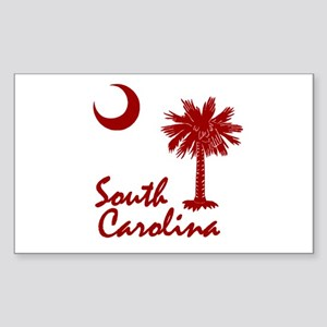 South Carolina Palmetto Rectangle Sticker