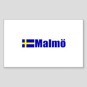 Malmo, Sweden Rectangle Sticker