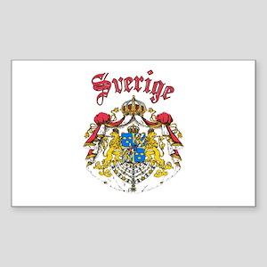 Sverige Coat of Arms Rectangle Sticker