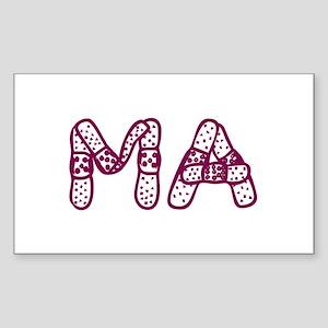 MA (Bandage logo) Rectangle Sticker