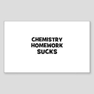 Chemistry Homework Sucks Rectangle Sticker