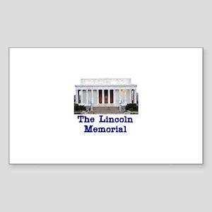 The Lincoln Memorial Rectangle Sticker