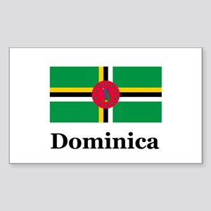 Dominica Rectangle Sticker