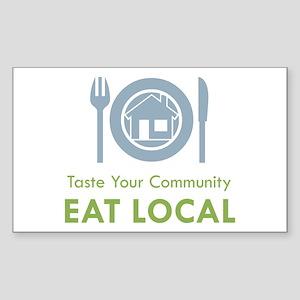 Taste Local Rectangle Sticker