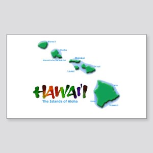 Hawaii Islands Rectangle Sticker