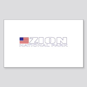 Zion National Park Rectangle Sticker