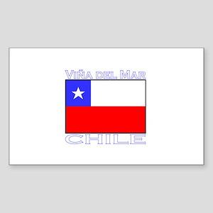 Vina del Mar, Chile Rectangle Sticker