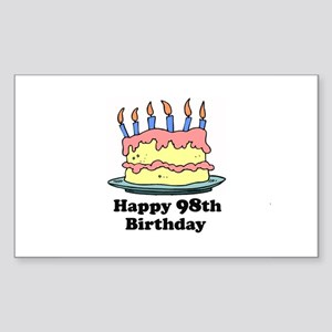 Happy 98th Birthday Rectangle Sticker
