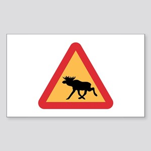Caution Elks, Sweden Rectangle Sticker