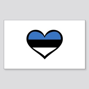 Estonia Love Rectangle Sticker
