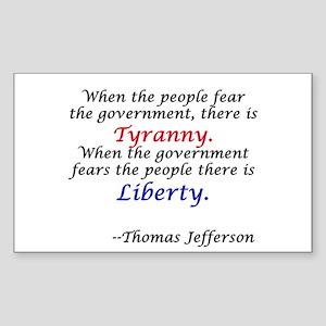 Liberty Over Tyranny Rectangle Sticker