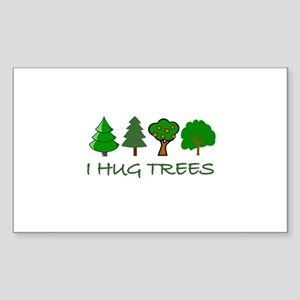 I Hug Trees Rectangle Sticker