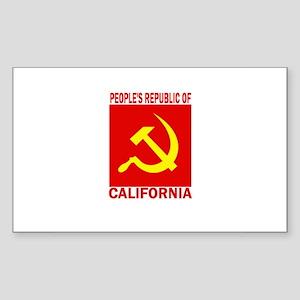 People's Republic of Californ Sticker (Rectangular
