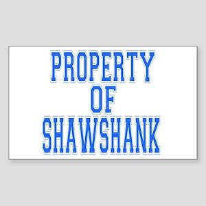 Property of Shawshank Rectangle Sticker