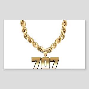 707 Gold Chain Rectangle Sticker
