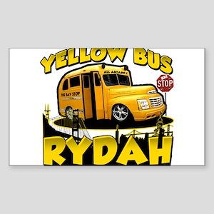Yellow Bus Rydah Rectangle Sticker