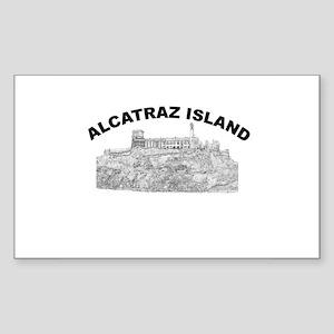 Alcatraz Island Rectangle Sticker