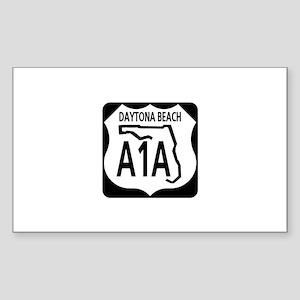 A1A Daytona Beach Rectangle Sticker