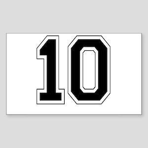 10 Rectangle Sticker