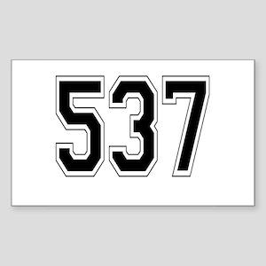 537 Rectangle Sticker