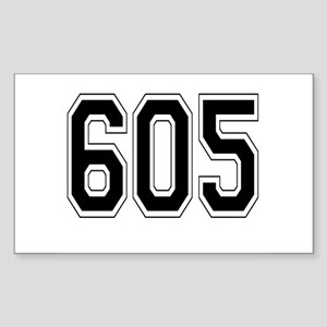605 Rectangle Sticker