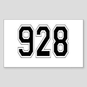 928 Rectangle Sticker