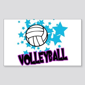 Volleyball Stars Rectangle Sticker
