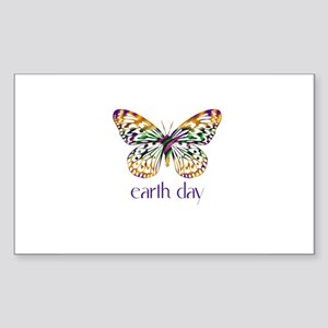 Earth Day - Butterfly Rectangle Sticker