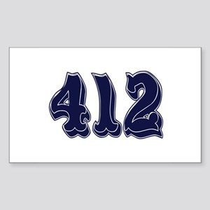 412 Rectangle Sticker